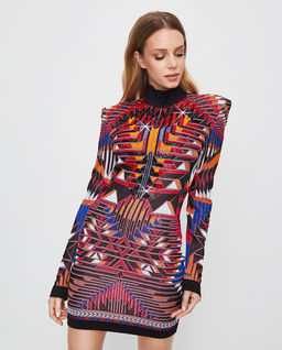 Kolorowa sukienka mini