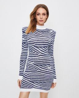 Błyszcząca sukienka w paski