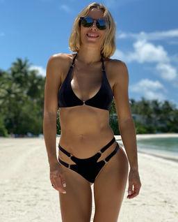 Czarny top od bikini Belinda