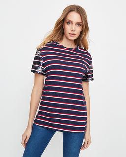 T-shirt z cekinami