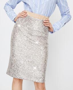 Ołówkowa spódnica z cekinami