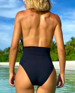 Czarny strój kąpielowy Vera