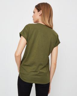 Zielona koszulka z logo