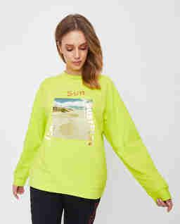 Bluza Fluo z nadrukiem