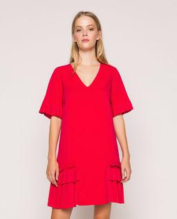 Sukienka mini z falbaną