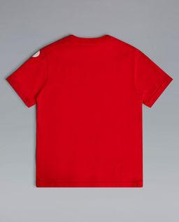 Czerwona koszulka z logo 4-16 lat