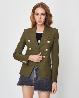 Zielona marynarka z guzikami