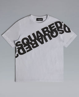 Biała koszulka z logo 4-16 lat