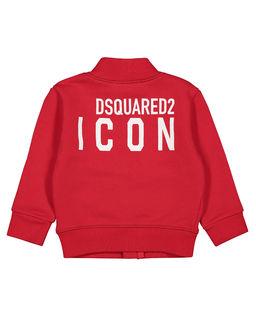 Czerwona bluza z logo 0-2 lat