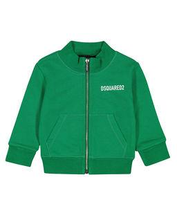Zielona bluza z logo 0-2 lat