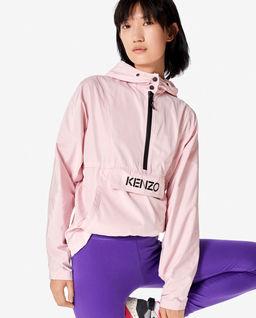 Różowa kurtka wiatrówka z logo