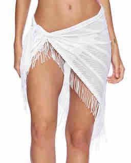 Białe pareo Indian