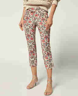 Spodnie w kwiaty Lovida