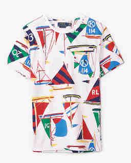 Biała koszulka z kolorowym nadrukiem