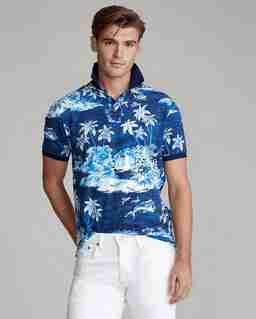 Granatowa koszulka polo Slim Fit