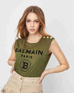 Zielony t-shirt z logo