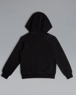 Czarna bluza z kapturem 10-16 lat