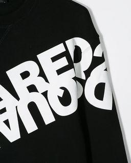 Czarna bluza z logo 8-16 lat