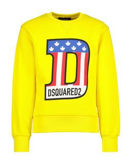 Żółta bluza z kolorowym nadrukiem 4-12 lat