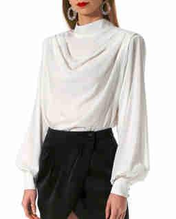 Biała bluzka z cupro Karen