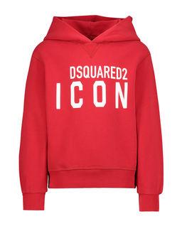 Czerwona bluza z kapturem 6-14 lat