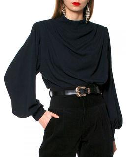 Czarna bluzka z cupro Karen