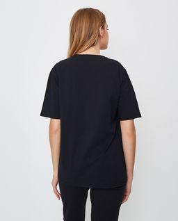 Czarny t-shirt z nadrukiem