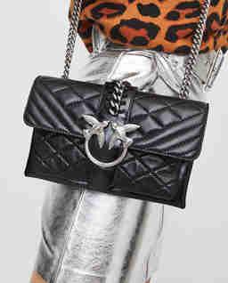 Prošívaná kožená kabelka Mini Love Soft