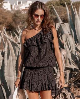 Czarna koronkowa sukienka Essos