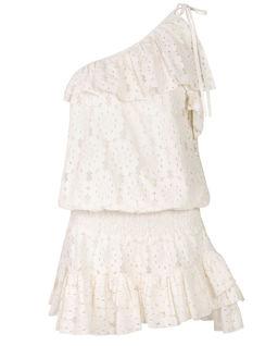 Biała mini sukienka z włoskiej koronki Essos