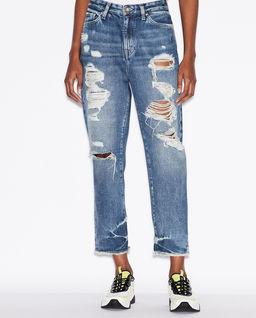 Jeansowe spodnie boyfriend