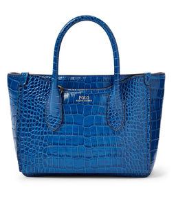 Niebieska torebka ze skóry