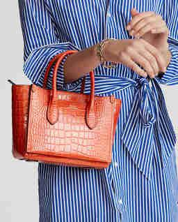 Pomarańczowa torebka ze skóry