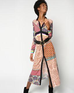 Sukienka midi z motywem kwiatowym Granetti
