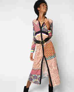 Midi šaty s květinovým motivem Granetti