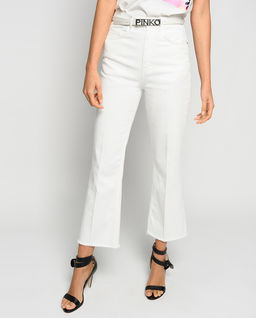 Białe jeansy Felicity Mom Fit Bootcut