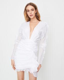 Biała sukienka z falbankami