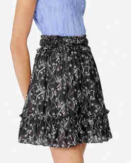Czarna spódnica z jedwabiem
