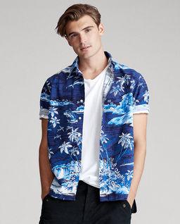 Koszula w tropikalny wzór