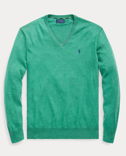 Zielony sweter w serek