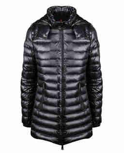 Pikowana kurtka z kapturem Menthe