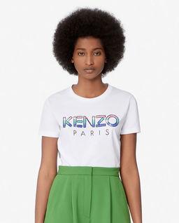 Biała koszulka z cekinowym logo