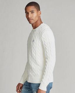 Biały sweter z bawełny