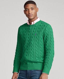 Zielony sweter z bawełny