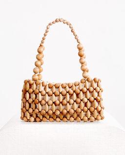 Beżowa torebka na ramię Cora