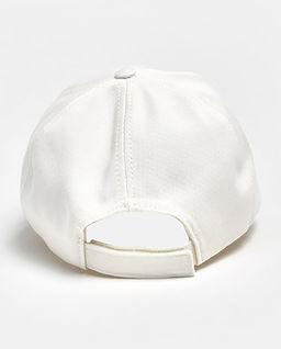 Biała czapka z logo