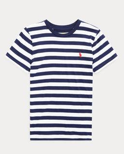 T-shirt w paski z krótkim rękawem