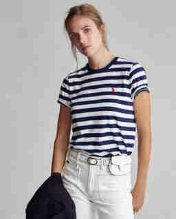 Pruhované tričko s krátkým rukávem