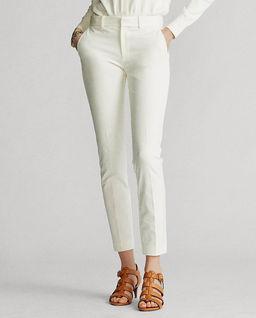 Białe elastyczne spodnie