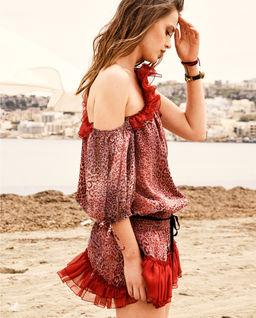 Sukienka mini w cętki Ygritte